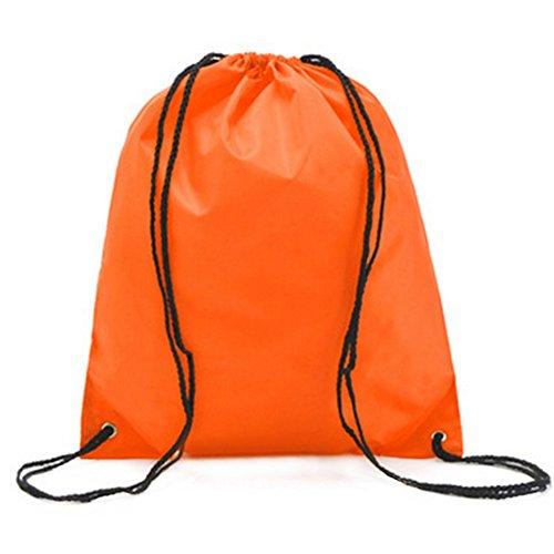 Imagen de demarkt  saco o de cuerdas impermeable del lazo del ocio  de viaje del bolso deportes bolsas naranja