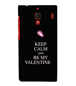 Be My Valentine 3D Hard Polycarbonate Designer Back Case Cover for Xiaomi Redmi 1S :: Xiaomi Redmi 1