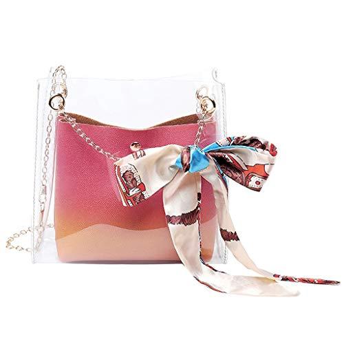 XZDCDJ Crossbody Tasche Damen UmhängeTaschen Daypacks Art- und Weisedame Shoulders Jelly Package Letter Purse Handy Kuriertasche -