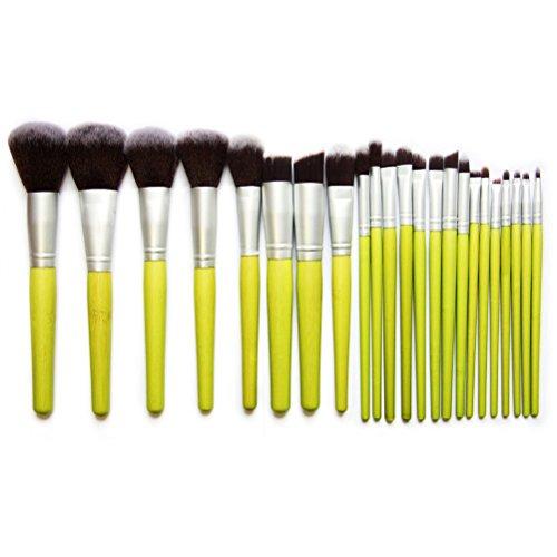 VORCOOL 23pcs bambou cosmétiques maquillage pinceaux sertie de poche (vert)