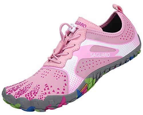 SAGUARO Hombre Mujer Barefoot Zapatillas de Trail Running Minimalistas Zapatillas de Deporte Fitness...