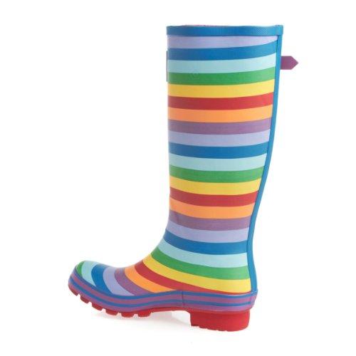 Evercreatures Damen Rainbow Gummistiefel, Mehrfarbig mehrfarbig / bunt ...