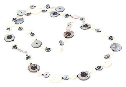 Zest Shell und Pailletten Multi Disc Halskette mehrfarbig 104cm (Pailletten-shell)