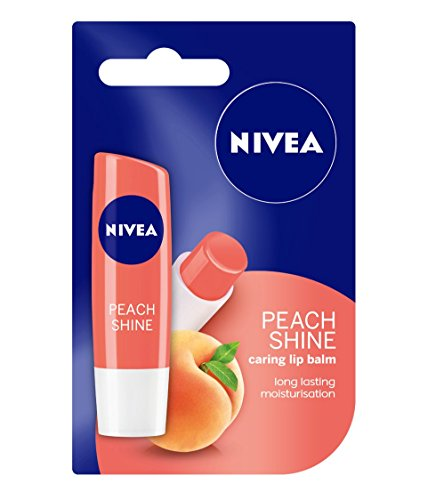 Nivea Fruity Shine Peach Lip Balm, 4.8g