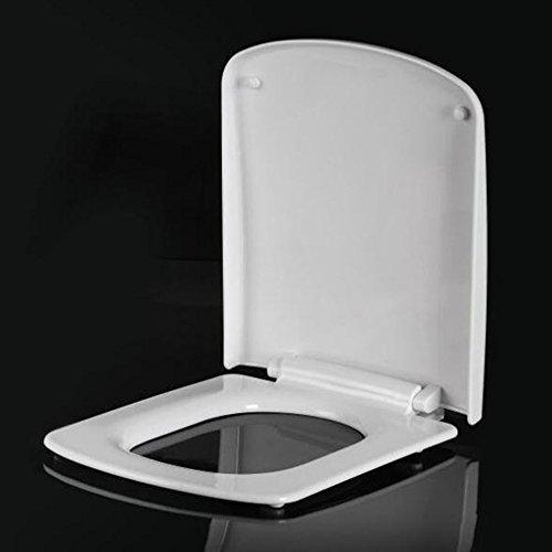YWEIWEI Toilettendeckel Vintage Absteigend Thick Square Sitzbezug Sydney Dansheng Toilettendeckel Toilettendeckel White-42-46 * 36cm