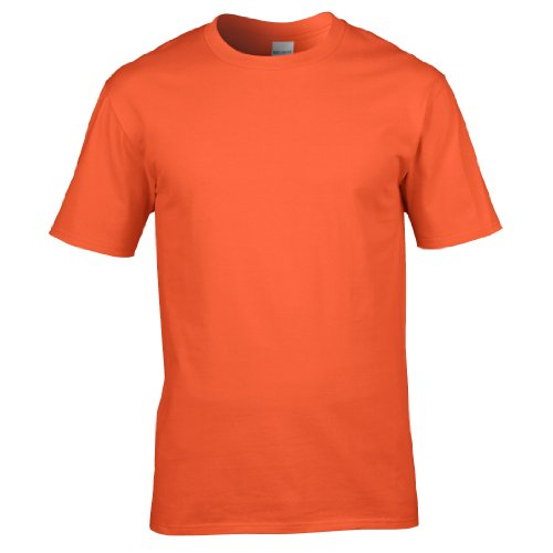 Gildan - Maglietta 100% Cotone - Uomo Arancio