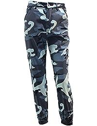 Mujeres Hombres Moda hibote Casual Camo Camuflaje Pantalones de Carga Militar Mujer Pantalones Sueltos Pantalones de