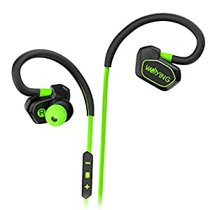 WOYING Q3 Bluetooth Headphones,V4.1 Wireless Sport Stereo Noise Cancelling Sweatproof Headset with Mic for Running,Gym,Driving for iPhone 6s Samsung Galaxy S7 Edge and Android Smartphones Green