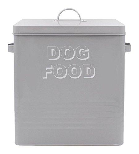 Lesser & Pavey NEUF Sweet Home Boîte de nourriture pour chien, EN MÉTAL, gris, 34 x 21 x 33 cm