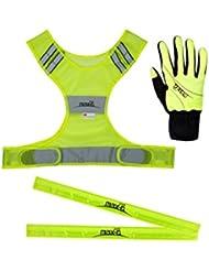max-Q.com Safety Pack - Reflektion / Beleuchtung - Gelb Damen Herren XL