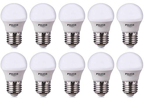 Set di 10 LAMPADINE SFERA P45 LED PEGASO, 7W, E27, Lampada LED, ø45x81, 4000K, Luce Naturale, 595 Lm, sostituisce 42W, raggio di illuminazione 200° cod.PEGECLED-056