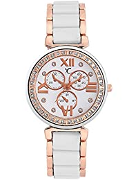 YOUTH CLUB PEARL-HKWT Chrono-Pattern Pearly Analog Watch - For GIRLS