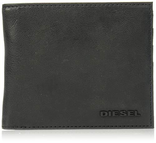 Diesel hiresh s, portafoglio uomo, nero (black), 11.5x3.5x14.2 centimeters (w x h x l)