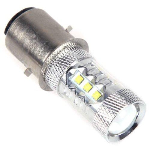 Preisvergleich Produktbild SODIAL(R) 16 * CREE 80W LED Motorrad / Rad /Farrad/ ATV Scheinwerfer Lampe Birne BA20D H6