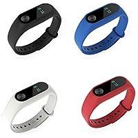 fit-power - Cinturini di ricambio per contapassi intelligente Xiaomi Mi Band 2 (non per Xiao Mi Band 1S), Pack of 3-typeF
