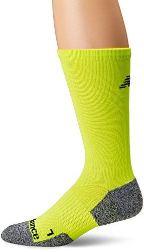 New Balance Cushioned Running Crew Sock-1 Pair gelb/grau, Large