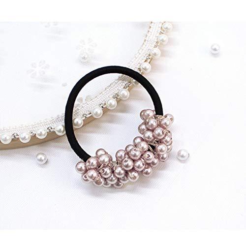 TOUSHI Haar Zubehör Mode Perlen Perle Elastische Gummi Haarbänder Elegante Kopfbedeckung Frauen Mädchen Haar Seil Haargummi Pferdeschwanz Schmuck Haarschmuck