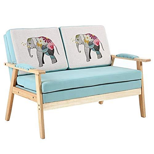 ZeanIImy Nordic Kleines Apartment Doppelschlaf Moderne Minimalist Massivholz-Einzelschlaf Schlafzimmer Balkon Faule Freizeit Sofa, Stuhl, Möbel Möbel