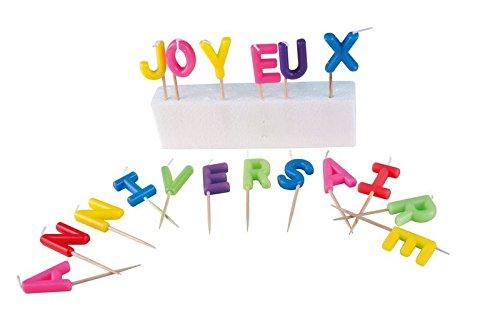 P'TIT CLOWN - 80011 - Bougie Lettres  - Joyeux Anniversaire 3523160800114