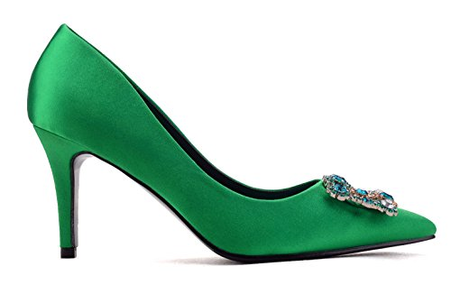 uBeauty - Scarpe da Donna - Scarpe col Tacco - Classiche Scarpe col Tacco Verde