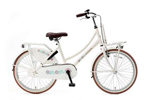 Nogan Vintage 24 Zoll Simply White Kinder Fahrrad Jungen mädchen 8-10 Jahre (132-144 cm)