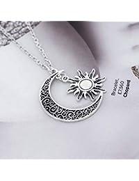 Collier Rétro Simsly à Motif avec Soleil, Lune et Étoile - Accessoires,  Bijoux Réglables f23e1c7024dc