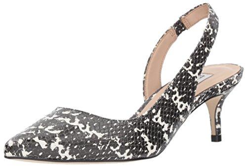 Steve Madden Women's Vera Uniform Dress Shoe Black/White Snake
