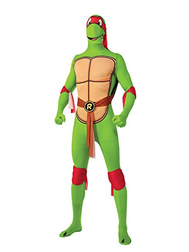 TMNT Raphael Second Skin Suit Lizenzware grün bunt - Grün Skin Suit Kostüm