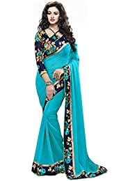 RJB Georgette Saree With Blouse Piece