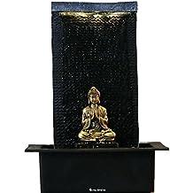 Fuente de agua interior Feng Shui Buda Zen 42 cm con led blanco