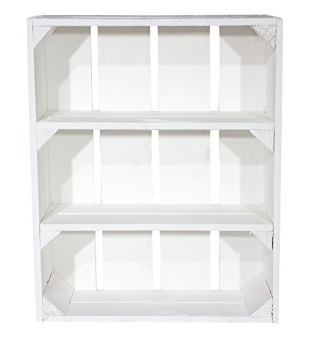 'Estantería con 3compartimentos caja plana 'Shabby Chic Serie 50x 40,5x 16cm