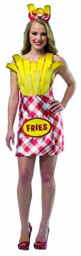 Pommes Kostüm Damen - Kostüm Packung Chips Frauen - One