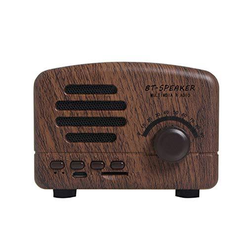 JYL Radio Home Mit Akku Stereo Receiver Lautsprecher AM FM USB Tasche Tragbare Mini Radio Support Card Bluetooth Retro für Schlafzimmer Büro,B
