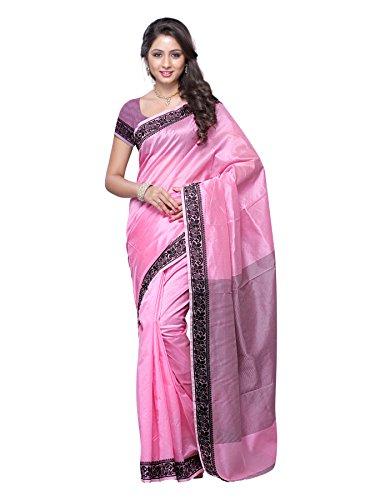 Mimosa Banarasi cotton silk saree(3099-563-AB-PINK)