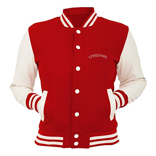 T-Shirtshock College-Jacke Rot WC0465 Liverpool Liverpool Fenway