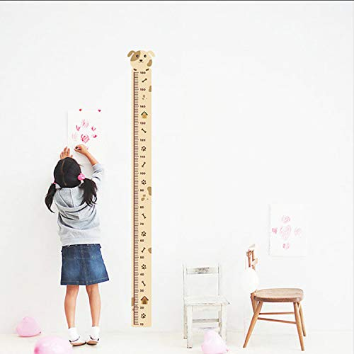 ikjuh Hund Wachstum Diagramm Dekorative Wandaufkleber Für Kinder Kinderzimmer Dekorationen Hause PVC Höhe Messen Aufkleber Wandbild Decor Wandkunst 16 * 165 cm