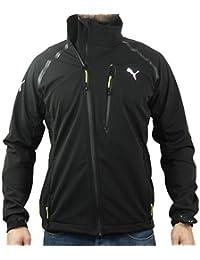 Men's Puma Urban Soft-Shell Zip Up Jacket Funnel Neck Warm Coat Wind-Blocker Top