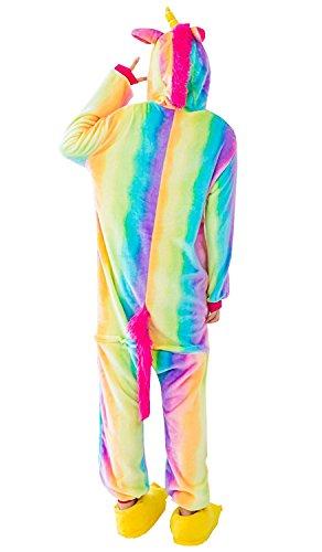 Everbeauties Cartoon Blau Umbreon Cosplay Kost¨¹m Mit Kapuze Unisex Erwachsenen Pyjamas Regenbogen Pegasus