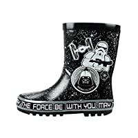 Disney Star Wars Boys Black Wellies
