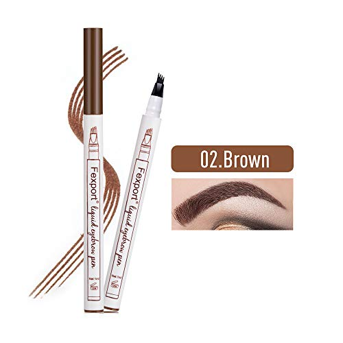 Tattoo Eyebrow Pen cuatro puntas duraderas Pencil