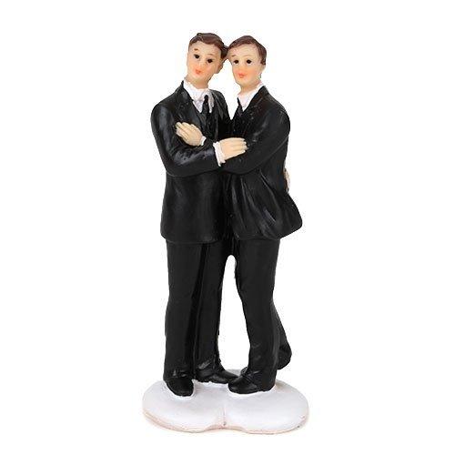 G. Wurm Deko Hochzeitspaar Männer, 11 cm (Gay Topper Cake Wedding)