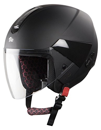 Steelbird SBH-5 VIC Female Glossy Volcano Black with Plain Visor,580 mm