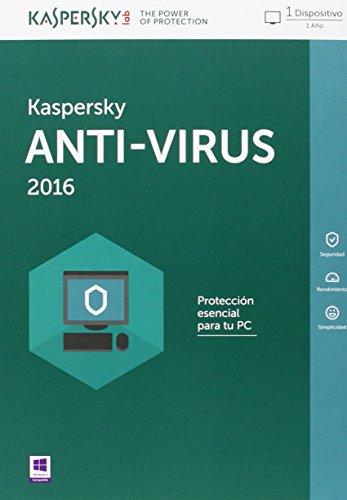 Kaspersky AntiVirus 2016 - Software De Seguridad, 1 Usuario, Base