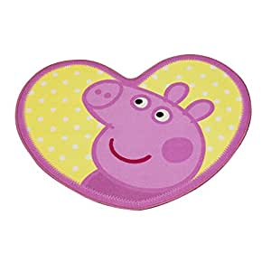Girls Kids Peppa Pig Bedroom Floor Rug Mat 84cm X 67cm