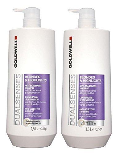 Goldwell punto & Highlights Shampoo + pompa 2�x 1500�ml Dualsenses anti giallo GW Biondi