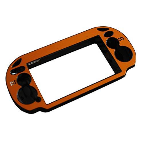 Yiliankeji Faceplates Skins für PlayStation Vita - Aluminium Metall Schutzhülle Harte Schale Abdeckung für Konsole Farbe Gold Sony Hard-faceplates