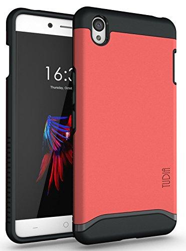 OnePlus X Hülle, TUDIA Slim-Fit MERGE Dual Layer Schutzhülle für OnePlus X (Rose)