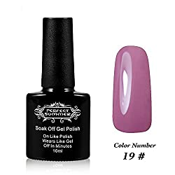 Perfect Summer UV Led Gel Nail Polish Color 10ml Soak Off Gel Manicure product Light Purple