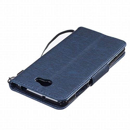 LEMORRY Huawei Y5 2 Custodia Pelle Cuoio Flip Portafoglio Borsa Sottile Fit Bumper Protettivo Magnetico Chiusura Standing Card Slot Morbido Silicone TPU Case Cover Custodia per Huawei Y5 2 (Huawei Y5I profondo blu Footlocker En Línea 3ccTcU