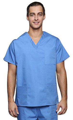 Lister Unisex Medical Krankenhaus Chirurgischer Doctor Tierärzte Scrub Tunika (Verschiedenen Farben, Größen XS bis 3X L) Gr. XXXXL, Blau - Hospital Blue (Top Unisex Scrub Blau)
